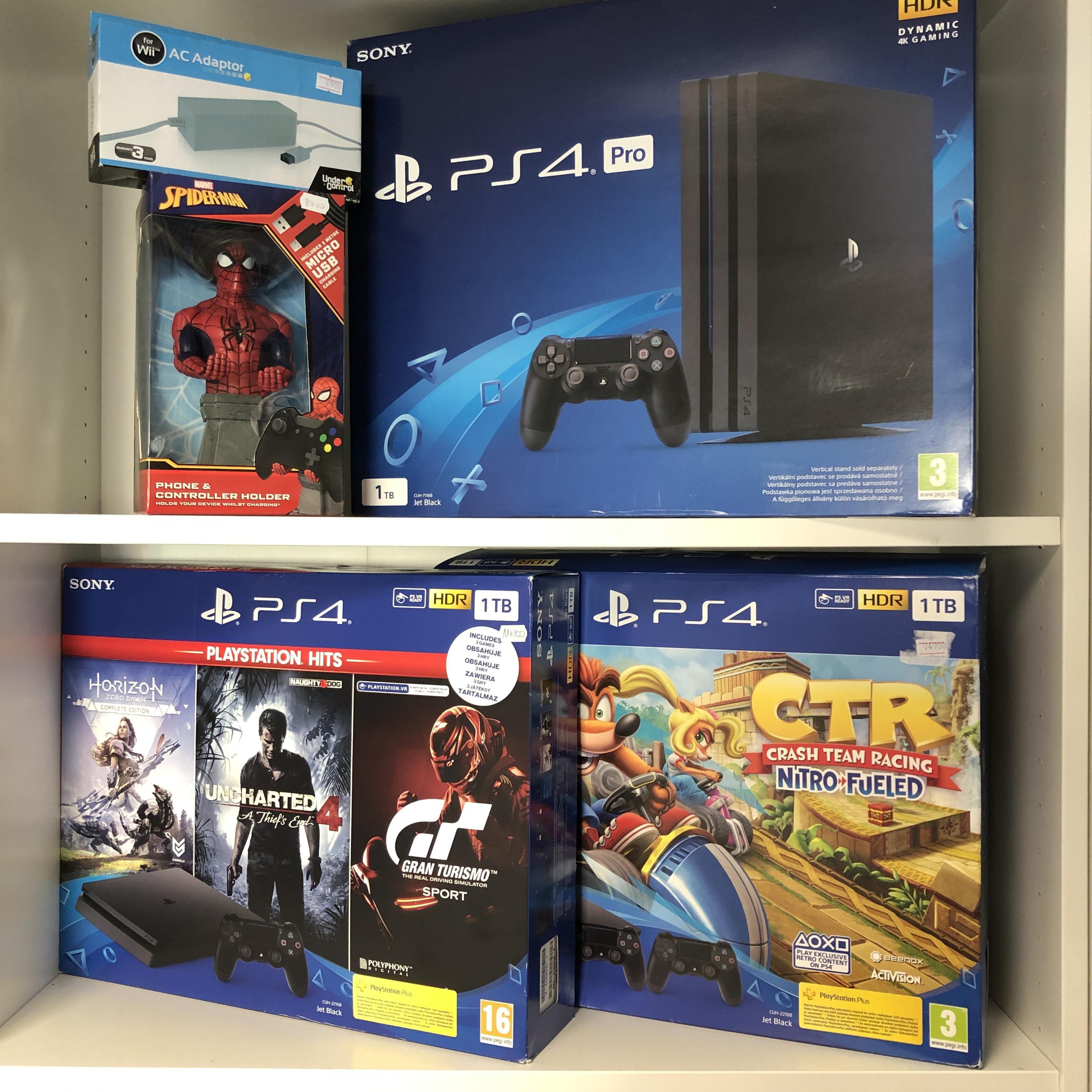Használt és új Playstation4 Konzolok ill. kontrollerek, használt és új játékok.
