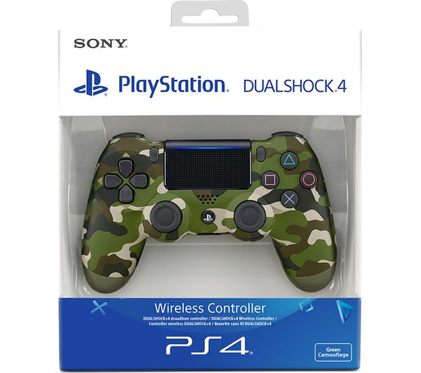 SONY PLAYSTATION 4 (PS4) DUALSHOCK 4 V2 CONTROLLER GREEN CAMOUFLAGE