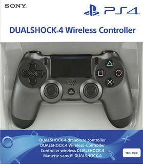 SONY PLAYSTATION 4 (PS4) DUALSHOCK 4 V2 CONTROLLER STEEL BLACK